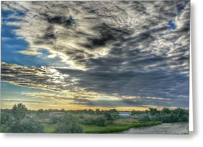 Early Morning Over The North Platte Greeting Card by Chris Short