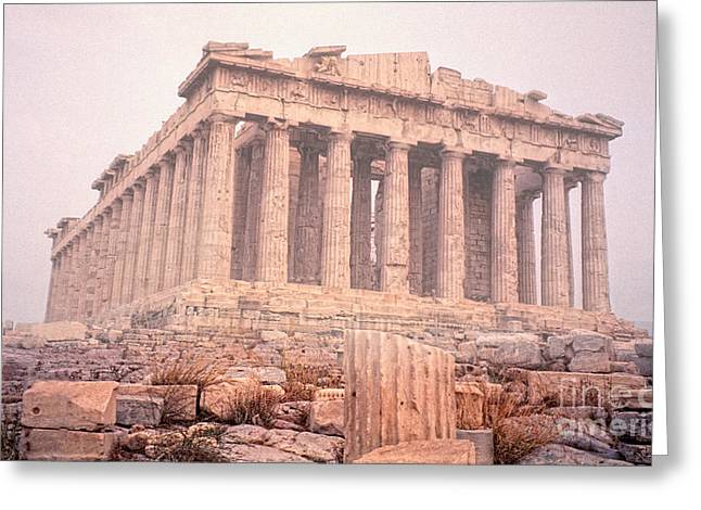 Greeting Card featuring the photograph Early Morning Parthenon by Nigel Fletcher-Jones