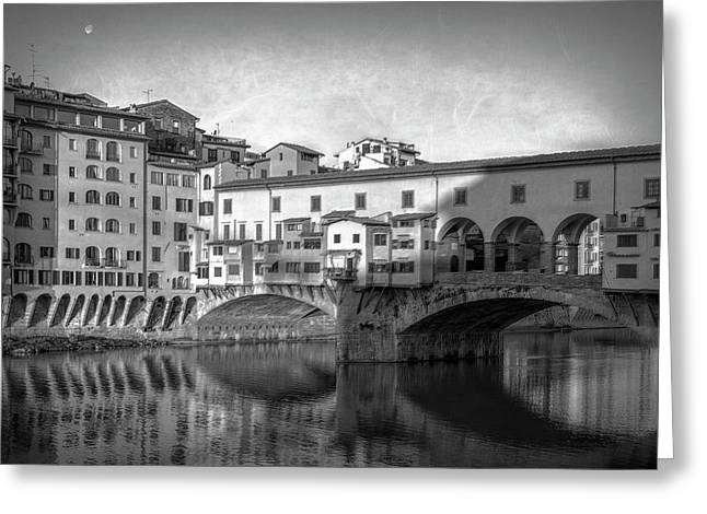 Greeting Card featuring the photograph Early Morning Ponte Vecchio Florence Italy by Joan Carroll