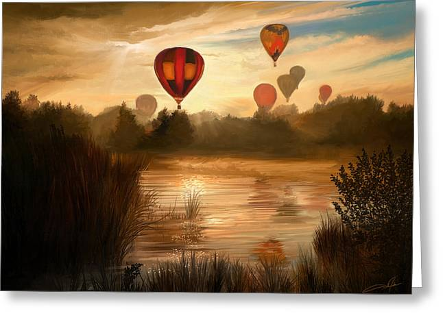 Early Morning Rise Greeting Card by Dale Jackson