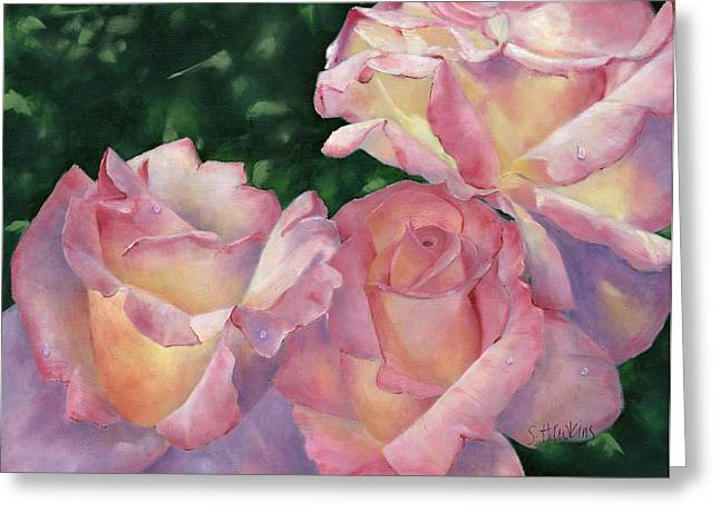 Early Morning Roses Greeting Card