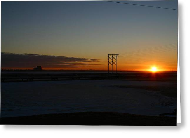 Early Morning Sunrise Greeting Card by Anthony Jones