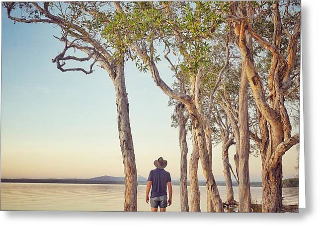 Greeting Card featuring the photograph Early Morning Tranquility Down By The Lake by Keiran Lusk