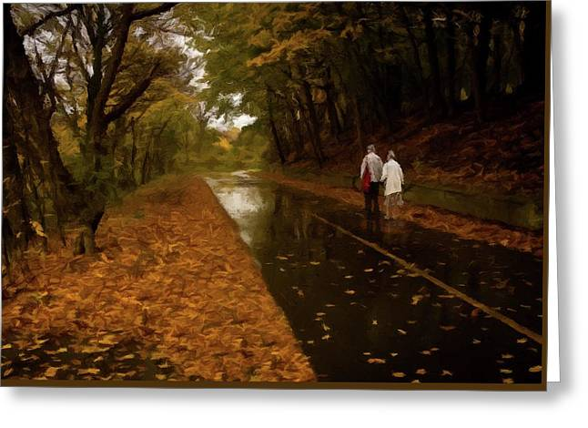 Greeting Card featuring the photograph Early Morning Walk by David Dehner