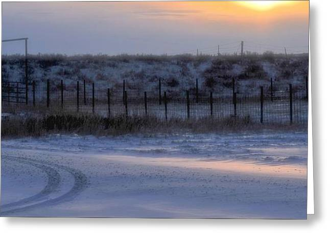 Early Morning Winter Greeting Card