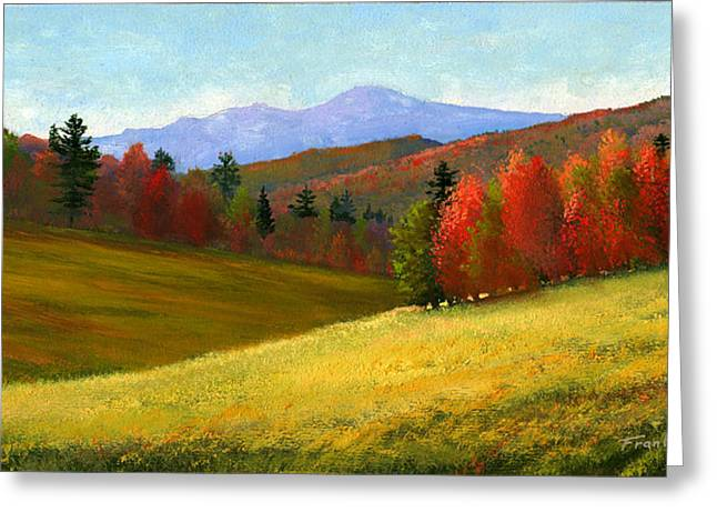 New Paintings Greeting Cards - Early October Greeting Card by Frank Wilson