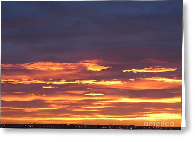 Early Prairie Sunrise Greeting Card