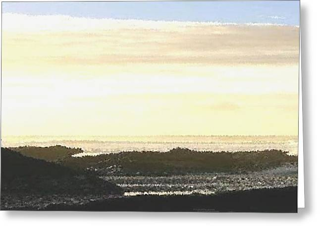 Early Sea Evening Greeting Card by Dr Loifer Vladimir