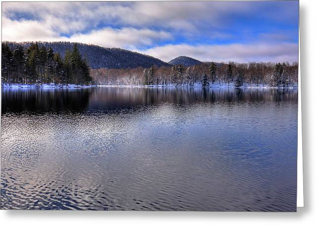 Early Snow On West Lake Greeting Card by David Patterson