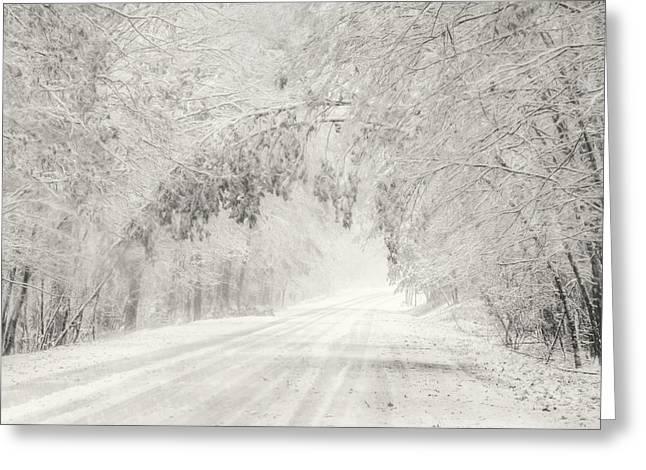 Early Snowfall Greeting Card by Lori Deiter