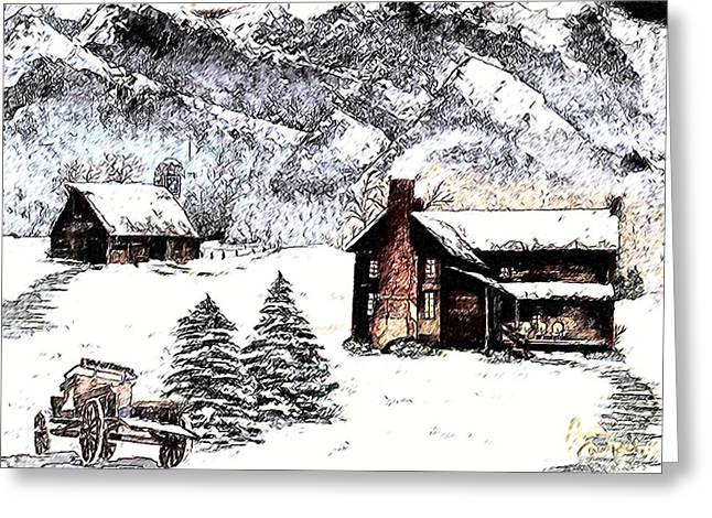 Early Snowfall Greeting Card by Penny Everhart