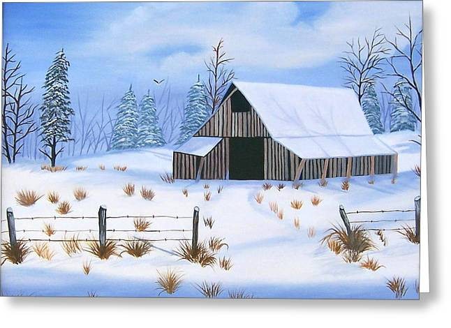 Early Snowfall Greeting Card by Ruth  Housley