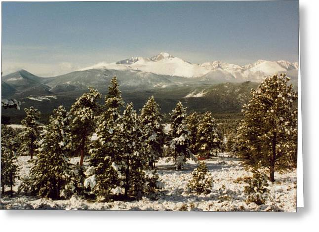 Early Spring At The Rockies Greeting Card by Ruth  Housley
