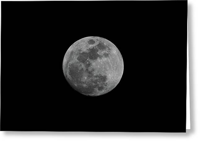 Greeting Card featuring the photograph Early Spring Moon 2017 by Jason Coward