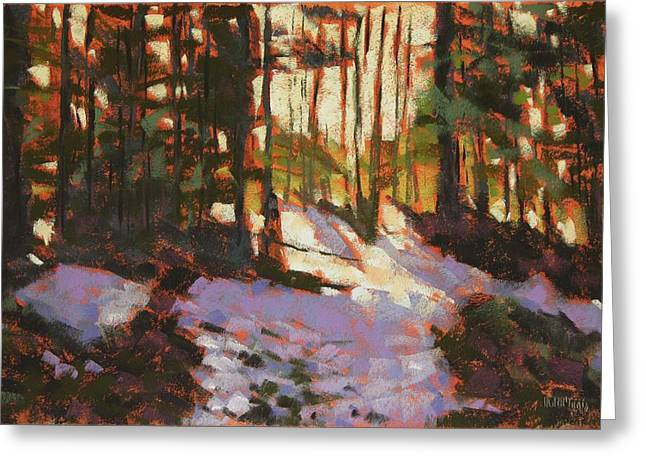 Snowscape Pastels Greeting Cards - Early Spring Near Hyak Greeting Card by Mary McInnis