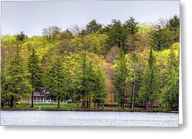 Early Spring Panorama Greeting Card by David Patterson