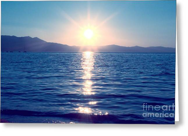 Early Sunset Greeting Card