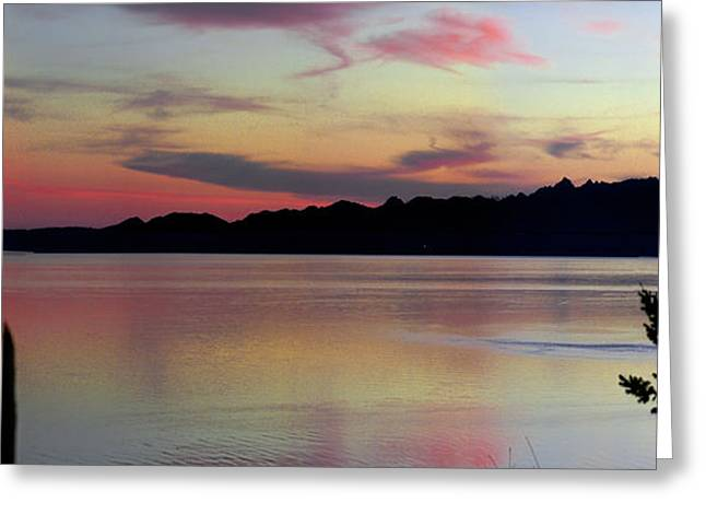 Early Whidbey Island Sunset  Greeting Card by Mary Gaines