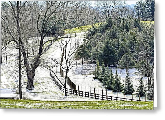 Early Winter Pasture Greeting Card