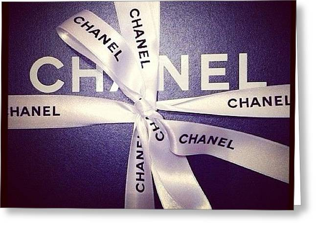 Early Xmas Present! 😍 #chanel Greeting Card