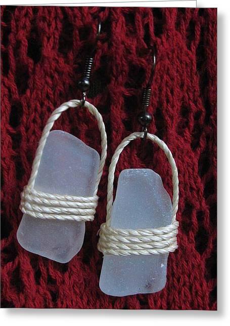 Earrings 1 Greeting Card by Lorna Diwata Fernandez