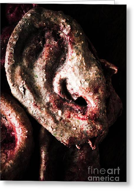 Ears And Meat Hooks  Greeting Card