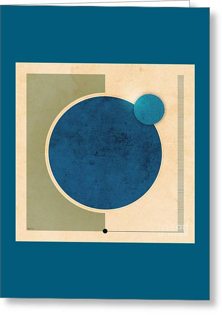 Earth And Moon Graphic Greeting Card by Phil Perkins