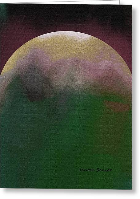 Earth And Moon Greeting Card