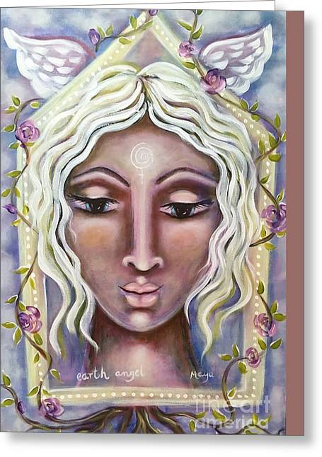 Earth Angel Greeting Card by Maya Telford