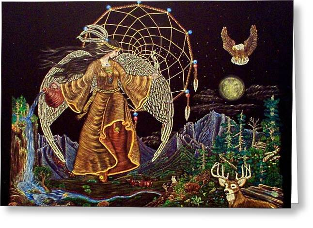 Earth Angel Moon Rise Greeting Card