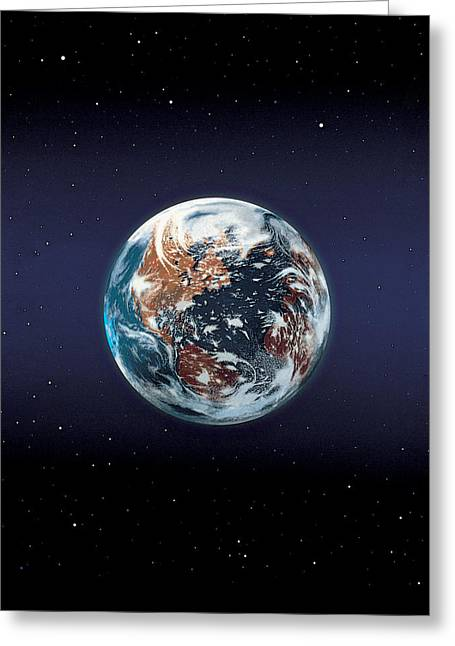 Earth Greeting Card by BONB Creative