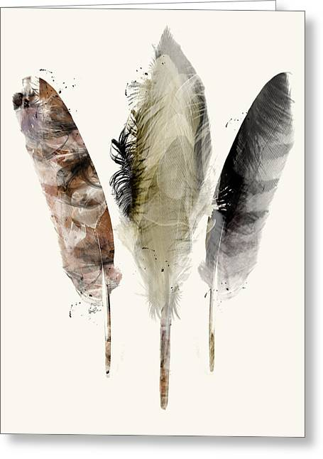 Earth Feathers Greeting Card