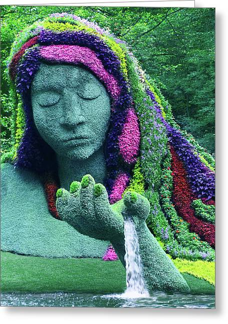 Earth Goddess Greeting Card