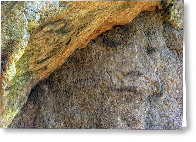 Greeting Card featuring the photograph Earth Memories-stone # 4 by Ed Hall