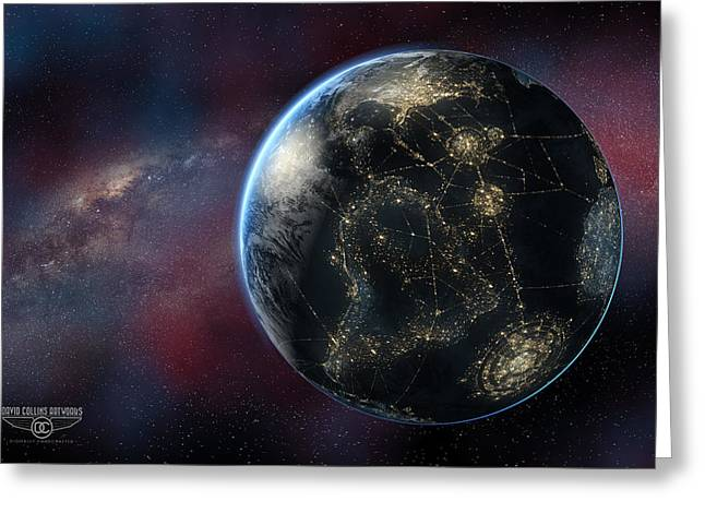 Earth One Day Greeting Card by David Collins