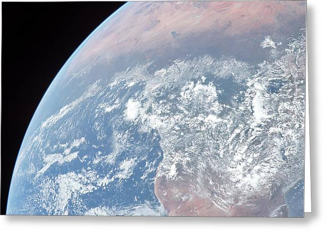 Earth Slice Greeting Card by Peter Chilelli