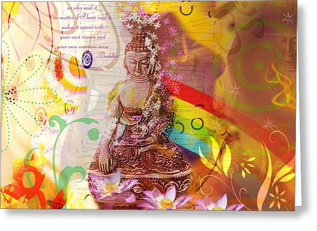Earth Touching Buddha Greeting Card