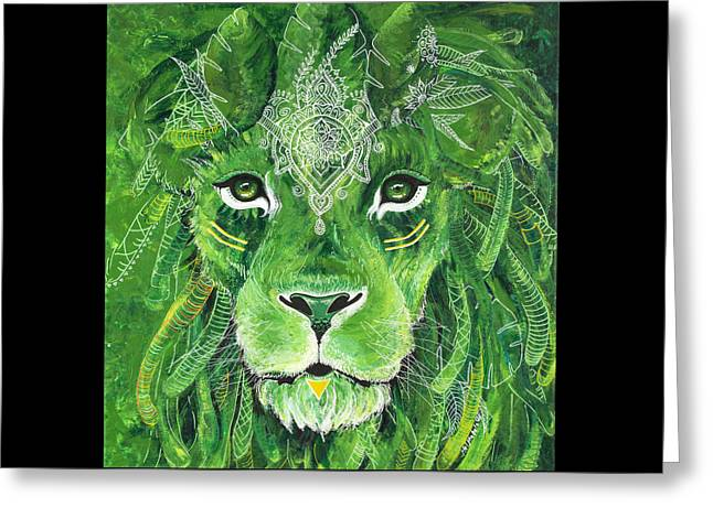 Earth Warrior Greeting Card by Melinda Mahalo