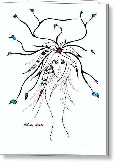 Earth Woman 4 Greeting Card