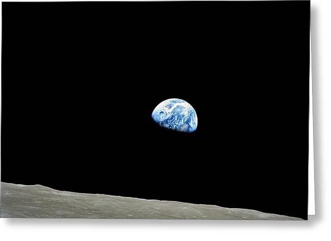 Earthrise - The Original Apollo 8 Color Photograph Greeting Card