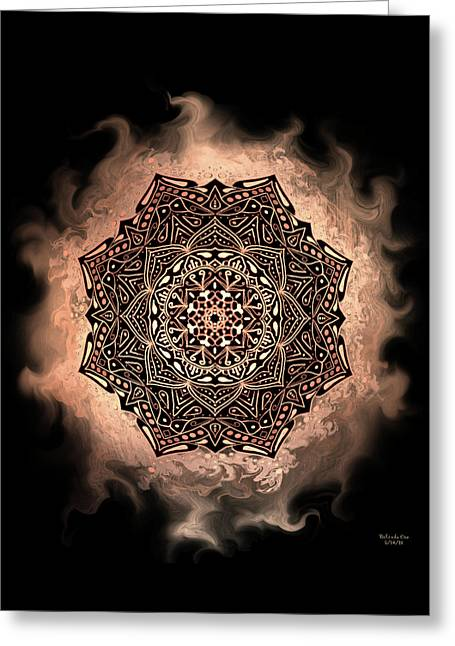 Earthy Mandala Greeting Card