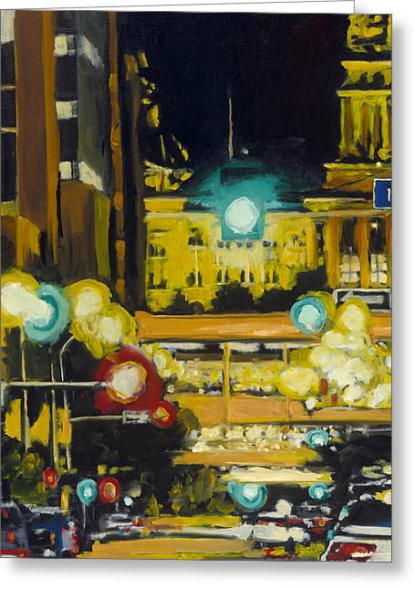 East 13th And Locust St Des Moines Greeting Card
