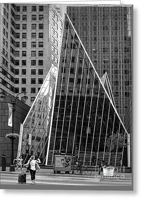 East 42nd Street, New York City  -17663-bw Greeting Card