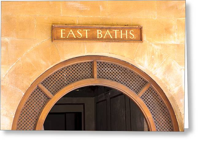 East Baths Greeting Card by Christi Kraft