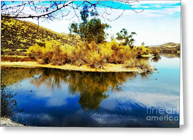 Greeting Card featuring the photograph East Bay, Canyon Lake, Ca by Rhonda Strickland