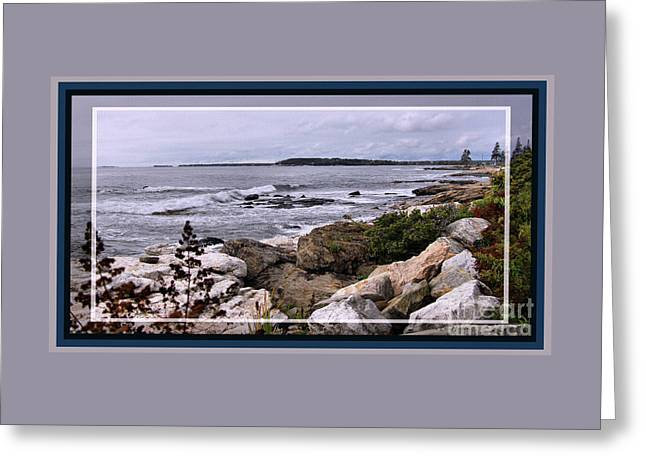 East Boothbay, Maine Ocean View, Framed Greeting Card by Sandra Huston