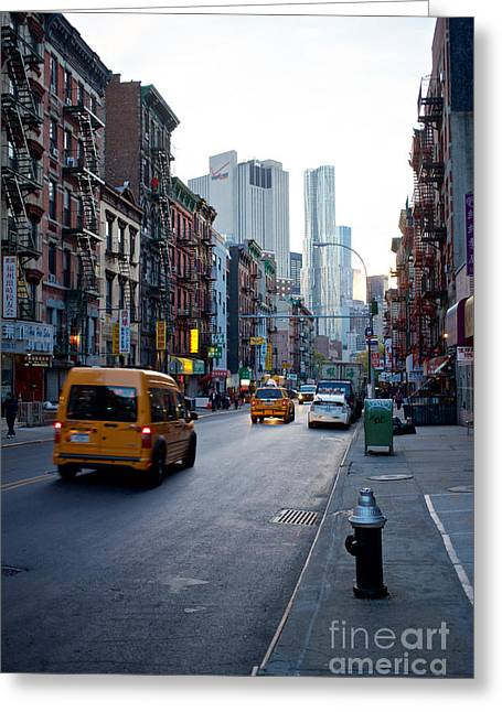 East Broadway Evening Greeting Card
