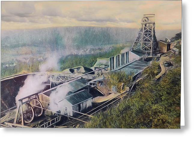 Anthracite Greeting Cards - East Brookside Mine Shaft Greeting Card by Lori Deiter