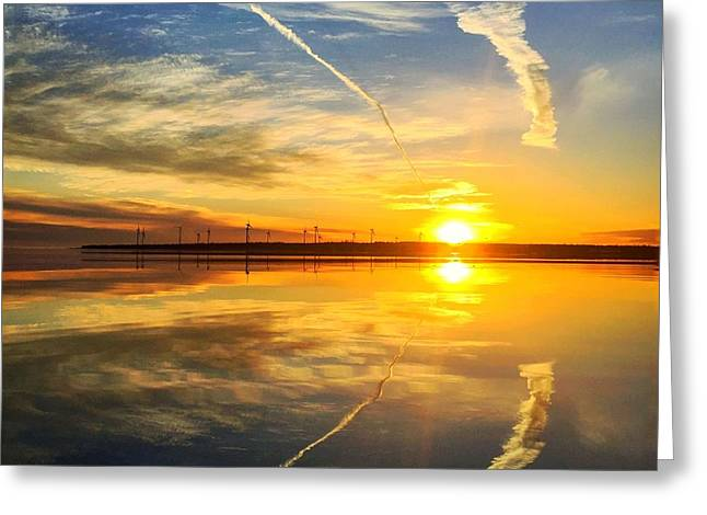 East Coast Reflection 2 Greeting Card by Christine Sharp