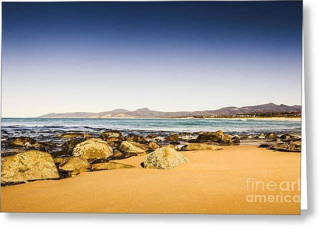 East-coast Tasmanian Landscape Greeting Card by Jorgo Photography - Wall Art Gallery